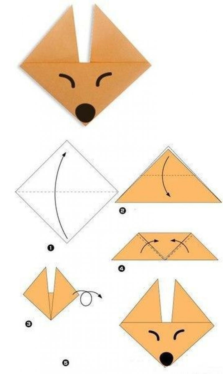 Оригами из бумаги для самых маленьких схема