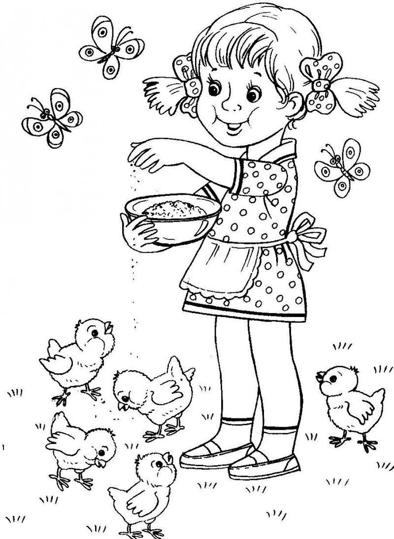 Раскраски добрых дел детей